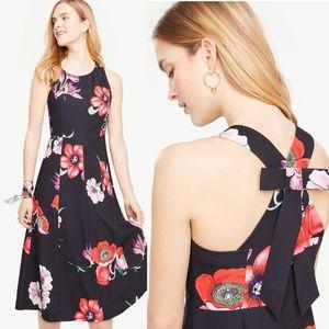 Ann Taylor Floral Midi Dress